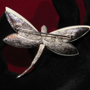 Liz Claiborne Jewelry - Mother of Pearl Dragonfly Liz Claiborne Signed Pin